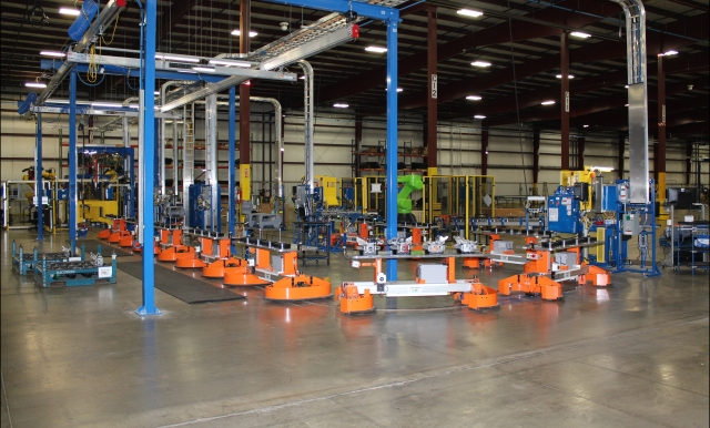 Fori Rail Guided Carts RGCs for Automotive Module Assembly Systems